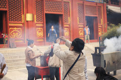 Lama temple in Beijing Royalty Free Stock Photography