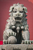 Lama Temple. The bronze lion statue in front of Yonghe Temple also known as Palace of Peace and Harmony Lama Temple or simply Lama Temple in Beijing, China stock photos