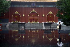 Lama Temple entrance, in Beijing Stock Image