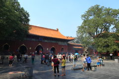 Lama Temple van Peking in China Stock Afbeeldingen