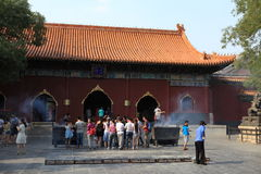 Lama Temple van Peking in China Stock Afbeelding