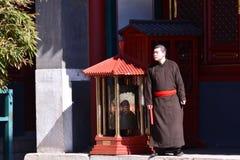 Lama TempleA monk Stock Photography