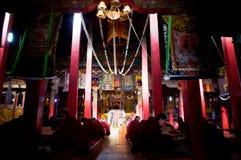 Lama und Tempel Stockfotos