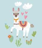 Lama vectorachtergrond royalty-vrije illustratie