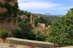Lama, village in the north of Corsica royalty free stock photo