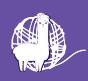 Lama Yarn stock illustrationer