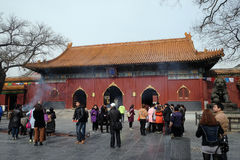 Lama Yonghe Temple in Beijing Stock Photos