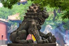 Lama Yonghe Temple i Peking Kina Royaltyfri Fotografi
