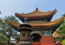 Lama Yonghe Temple i Peking Kina arkivbilder
