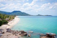 Lamai海滩, Samui海岛,泰国。 免版税图库摄影