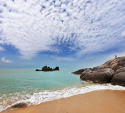 The Lamai beach on Koh Samui Royalty Free Stock Photography