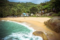 Lamai beach on Koh Samui Royalty Free Stock Images