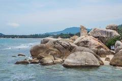 Lamai beach, Samui, Grandfather Royalty Free Stock Images