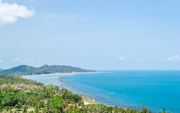 Lamai beach with top view Stock Photography