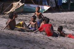 Lamalera children Stock Images