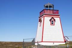 Lamaline-Leuchtturm in Neufundland und in Labrador in Kanada lizenzfreie stockfotos