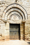 Lamalou-les-Bains, entrance of old roman church,Languedoc-Roussillion, France Royalty Free Stock Photos