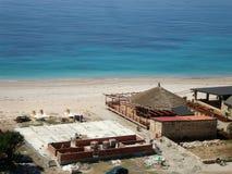 Lamana plaża, Himara wioska, Albania Zdjęcie Royalty Free