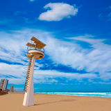 LaManga del Mar Menor strand i Murcia Spanien Arkivfoto
