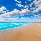 LaManga del Mar Menor strand i Murcia Spanien Arkivfoton