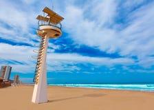 LaManga del Mar Menor strand i Murcia Spanien Arkivbild
