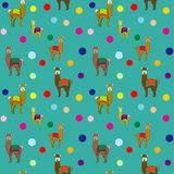 Lamapolka Dots Repeat Seamless Pattern Vector royalty-vrije illustratie