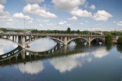 Lamar-Brücke in Austin Texas Lizenzfreies Stockbild