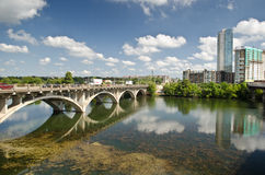 Lamar bridge in Austin Texas Royalty Free Stock Image