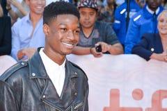 Lamar Johnson bij `-Koningen` première bij internationaal de filmfestival van Toronto in Toronto TIFF17 stock fotografie