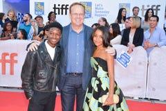 Lamar Johnson, Peter MacKenzie, Rachel Hilson na premier do ` dos reis do ` no festival de cinema internacional de Toronto em Tor fotografia de stock