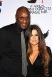 Lamar Odom et épouse Khloe Kardashian au 19ème chemin annuel pour effacer la milliseconde, plaza de siècle, ville de siècle, CA 05 Photo libre de droits