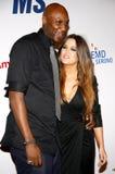 Lamar Odom and Khloe Kardashian Royalty Free Stock Photos