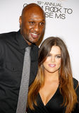 Lamar Odom and Khloe Kardashian Royalty Free Stock Images
