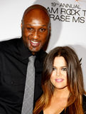 Lamar Odom and Khloe Kardashian Stock Photography