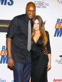 Lamar Odom und Khloe Kardashian lizenzfreies stockbild