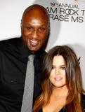 Lamar Odom und Khloe Kardashian stockfotografie