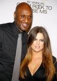 Lamar Odom y Khloe Kardashian imágenes de archivo libres de regalías