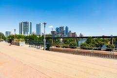 Lamar Pedestrian Bridge foto de stock royalty free