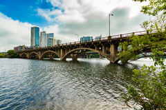 Lamar Street Bridge. The Lamar Street Bridge is a popular thoroughfare over the Colorado River in the downtown Austin, Texas area royalty free stock photography