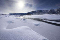 Lamar Valley in Winter Stock Photography