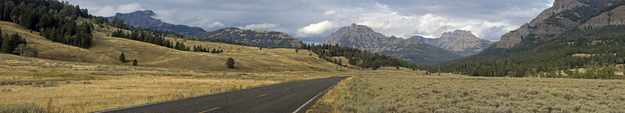 Lamar Valley Yellowstone Panorama Royalty Free Stock Photo