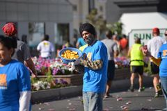 LAmaraton - mars 2014, solnedgångBlvd Royaltyfria Foton