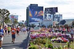 LAmaraton - mars 2014 - solnedgångBlvd Royaltyfria Bilder
