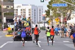 LAmaraton - mars 15, 2015 SolnedgångBlvd Arkivbild