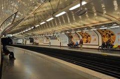 Lamarck-Metrostation Paris Frankreich Stockfoto