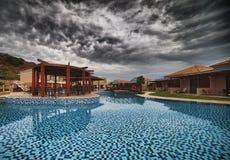 LaMarquise Luxurious brunnsort Hotell i Grekland Royaltyfria Bilder