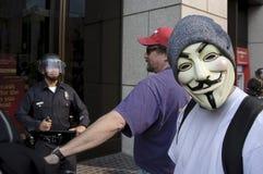 lamarschen upptar personer som protesterar Royaltyfria Bilder