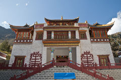 A lamasery. The facade of a lamasery under the sunshine Royalty Free Stock Images
