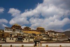 Lamasery di Songzanlin del Yunnan immagini stock