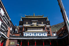 Lamasery in lasa tibet china Royalty Free Stock Images